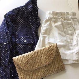 L. L. Bean polka dot shirt